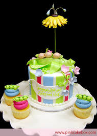 pea in the pod carriage cake topper custom baby shower cakes