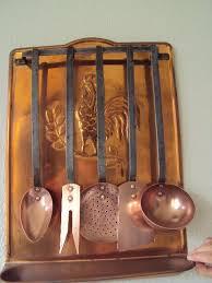 ustensiles de cuisine en cuivre ancien porte ustensiles de cuisine en cuivre complet de collection