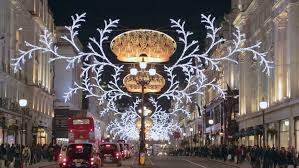 london dec 17 christmas lights and decorations in regent street