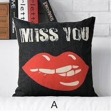 red lips and heart throw pillows for couch romantic style sofa