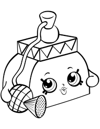 pretty puff shopkin coloring free printable coloring pages