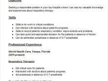 respiratory therapist resume objective sample resume for respiratory therapist respiratory therapist