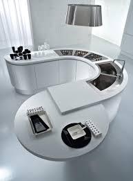 curved kitchen islands kitchen high tech curved kitchen design in white with corner sink