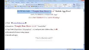 temple run brave 1 1 apk temple run brave 1 1 3 for mobile version