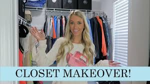 walk in closet clean out u0026 makeover erica lee youtube