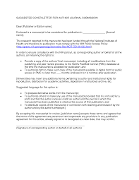 Journal Submission Cover Letter CV Resume Ideas