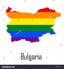 Map Of Bulgaria Vector Rainbow Map Bulgaria Colors Lgbt Stock Vector 344544167