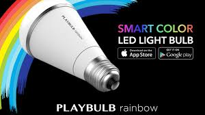 playbulb rainbow stylish smart color led light bulb by mipow usa