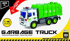 go lights for trucks friction powered toy rubbish truck with lights sound push and go