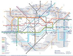London Metro Map by Tube Map Reveals Walking Distances Between Different London