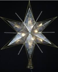 lighted tree topper deal alert 15 5 lighted capiz gold and beaded christmas