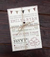 cheap rustic wedding invitations 15 unique rustic wedding invitations