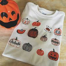 halloween tea towels pumpkin t shirt halloween shirt screen print shirt
