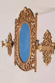 Spanish Style Sconces Vintage Burwood U0026 Syroco Gold Rococo Mirrors And Sconces
