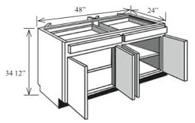 Bi48 Kitchen Island Base Cabinet 48