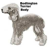 bedlington terrier gifts personalized embroidered cat
