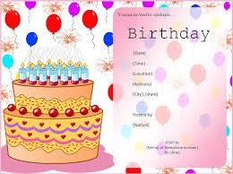 birthday cards invitations free templates festival tech