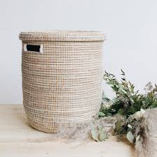Baby Laundry Hampers by Flat Lid Woven Storage Laundry Basket U2013 Connectedgoods Com