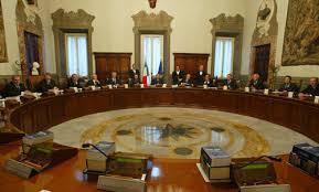 convocazione consiglio dei ministri approvato schema di d p r di recipimento dell accordo