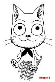 how to draw happy from fairy tail mangajam com