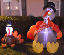 gemmy airblown thanksgiving inflatables pilgrim turkey 1 ebay