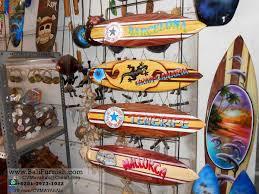3 surfboard handicrafts bali indonesia wall ornaments decorative