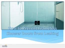 Sealing A Shower Door Shower Sealing Panel To Avoid Leaking Of Water