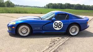 Dodge Viper White - 1996 dodge viper gts vivid shelby blue white stripes 650hp 23k