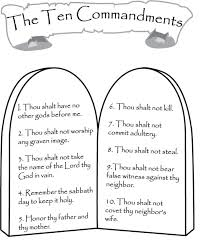 ten commandments coloring pages 52 remodel coloring