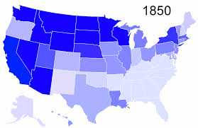 1850 United States Map by Percentage Of Foreign Born Population By State 1850 2010