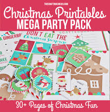 christmas printable mega pack the crafting