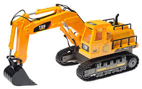 top race 7 channel full functional rc excavator battery powered