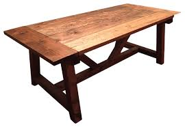 trestle farmhouse table with breadboards farmhouse dining