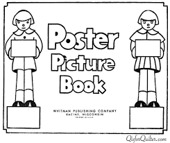 poster picture book to color u2014 peter mabie 1934 u2013 q is for quilter