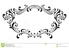 vintage baroque frame scroll ornament vector stock vector image