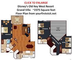 28 disney old key west 2 bedroom villa floor plan disney s