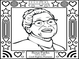 beautiful rosa parks coloring page ideas printable coloring page