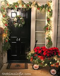 Decorate Outdoor Railing Christmas by This Little House Of Mine Christmas Porch Decorating Ideas