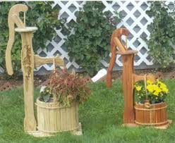 fascinating wooden garden decorations gorgeous diy wood home and