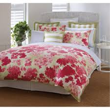floral bed on the wooden floor bedroom ideas for women that has