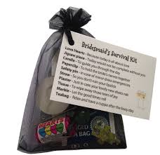 wedding gift keepsakes bridesmaid survival kit in black thank you gift card keepsake