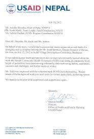 Appreciation Letter To Supervisor Nepal Family Health Program Ii Nfhp Ii News Archives