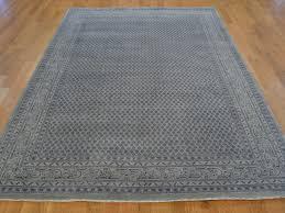 2x4 Rug 6 U0027 X 9 U0027 Oriental Rug Hand Knotted Silver Sarouk Mir Wool And Silk