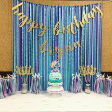 Doc Mcstuffins Shower Curtain - baby shower backdrop mermaid birthday paw patrol birthday
