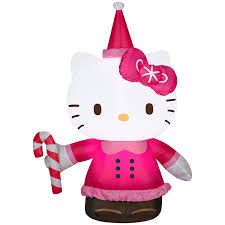 Hello Kitty Halloween Fabric by Amazon Com 3 5 U0027 Hello Kitty Airblown Christmas Decoration Patio