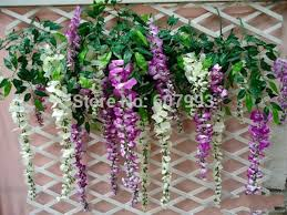 Faux Flowers Aliexpress Com Buy Artificial Silk Wisteria Ivy With 3 Heads