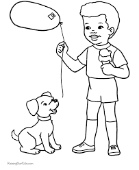 free printable coloring pages cute dog
