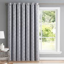 Thermal Panel Curtains Hlc Me Redmont Geometric Blackout Thermal Grommet Single Curtain