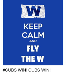 Chicago Cubs Memes - keep calm and fly the w cubs win cubs win chicago cubs meme on