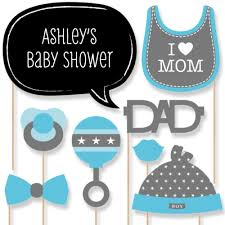 20 baby shower photo booth props blue boy kit with mustache